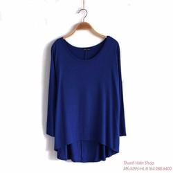 Áo váy orversize A095-xanh coban