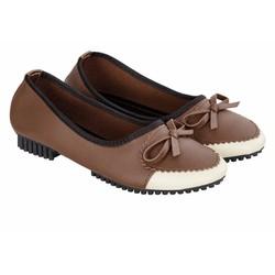 Giày búp bê nữ đính nơ 805 Sarisiu