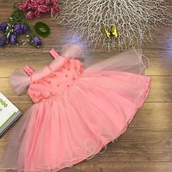 [Hàng thiết kế] - Đầm công chúa trễ vai hồng dâu