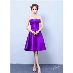 Đầm xoè công chúa đính hoa thêu  - hàng quảng châu