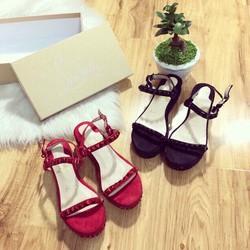 HÀNG NHẬP CAO CẤP - Giày sandal đế xuồng da bóng cực đẹp
