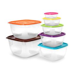 Bộ hộp nhựa 7 món sắc màu cao cấp - Hàng xuất khẩu