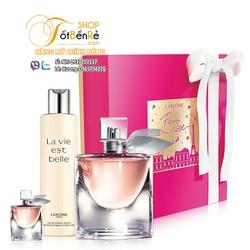 Gift Set nước hoa Lancome La vie est Belle 3pcs