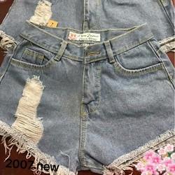 Quần short jean rách nữ