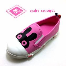 Giày vải bé gái in tai thỏ NG-01T