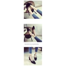 Giày gót vuông  hột đá