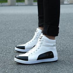 Giày bốt nam cổ thấp trắng đen