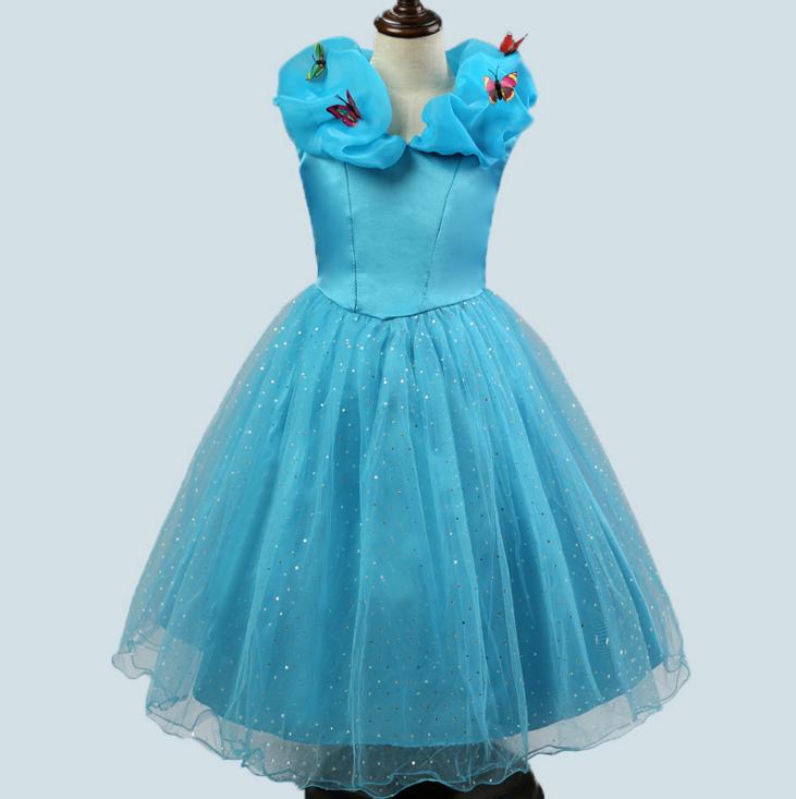 Đầm công chúa Lọ Lem ngắn kèm bướm 3