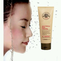 Sữa rửa mặt The Face Shop Acne Solution Foam Cleansing