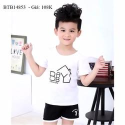 Bộ short thun mặc nhà dễ thương cho cho bé trai và bé gái 1 - 8 Tuổi