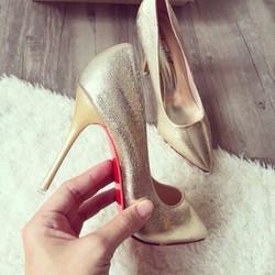 giày cao gót nhũ