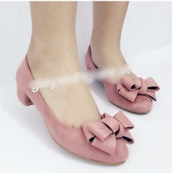 giày cao gót búp bê thắt nơ 1473