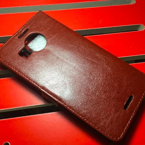 Nokia-Lumia 950 XL - Bao da PU có khe để thẻ cho điện thoại di động