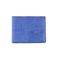 Bóp nam Huy Hoàng da cá sấu nguyên con nhỏ màu xanh dương HH2253