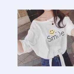 áo thun ngắn tay in smile