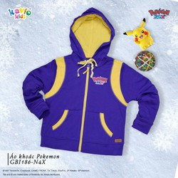 Áo khoác in hình Pikachu-tím