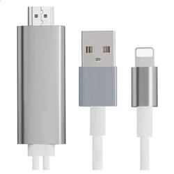 Cáp HDMI kết nối TV cho Iphone cổng lightning màu Bạc