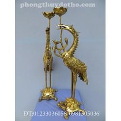 Hạc H4 - đồng vàng DT cao 55cm đồ thờ đồng