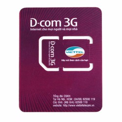 Sim 3G Viettel miễn phí 1 năm ko nạp tiền, mỗi tháng 5GB tốc độ cao
