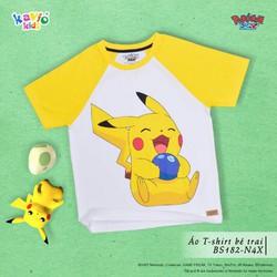 Áo thun bé trai in hình Pikachu ôm quả Berries
