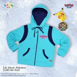 Áo khoác in hình Pikachu-xanh