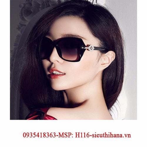 Kính mát nữ Unisex kiểu dáng Hàn Quốc + tặng bao da msp-H116