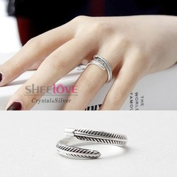 Nhẫn bạc sang trọng thời trang cá tính phong cách Hàn Quốc SPR-JZ099
