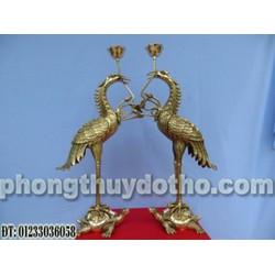 Đồ thờ đồng - Hạc đồng H48 cánh cụp, đồ thờ đồng