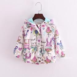 Áo khoác bé gái thời trang, kiểu dáng dễ thương, mẫu đáng yêu