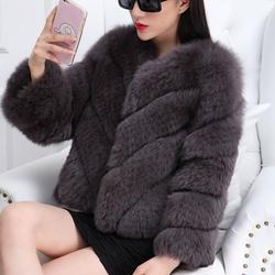Hàng order: Áo khoác lông  chồn cao cấp LC167