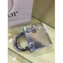túi xách màu bạc da bóng đẹp mềm mini nhỏ xinh