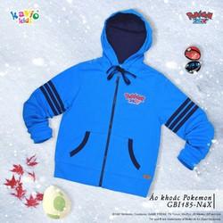 Áo khoác in hình Pikachu-xanh sz 16