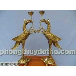 Đồ thờ đồng - Hạc H38-C cánh xòe Cao 43cm, đồ thờ đồng