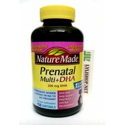 Nature Made Prenatal DHA 200mg 150 viên bổ sung dinh dưỡng cho bà bầu