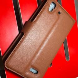Oppo-R7 Lite - Bao da PU có khe để thẻ cho điện thoại di động