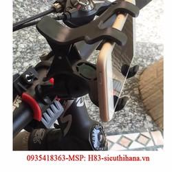 Giá đỡ kẹp điện thoại gắn tay lái xe đạp và moto phượt CAO CẤP H83