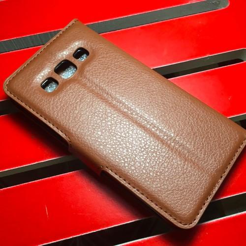 Samsung-Galaxy-A3 - Bao da PU có khe để thẻ cho điện thoại di động