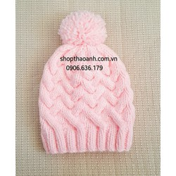Nón len Lisa đan tay size 2 tháng - 5 tháng