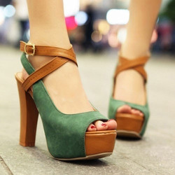 Giày cao gót thời trang quai đan