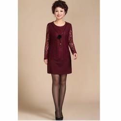 Đầm ôm phối ren DM246-size M-5XL HÀNG NHẬP