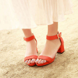 Giày cao gót quai ngang đế vuông