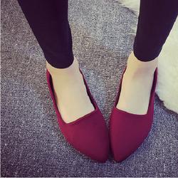 Giày búp bê mũi nhọn đế êm thời trang Bomdo- BGLD104