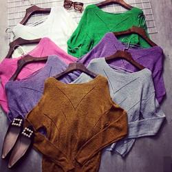 Áo len đan dây lưng