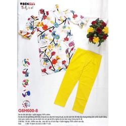Set áo dài hoa cúc + quần leggin 10-15kg