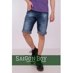 Quần short jeans xanh wash SJ16