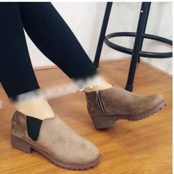 giày boot phối dây kéo nữ 1487