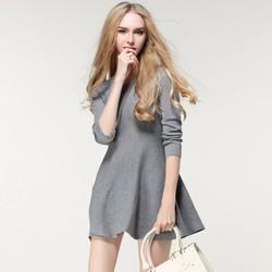 Đầm len xòe thời trang thu đông cao cấp- Q011