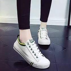 Giày thể thao trắng viền xanh