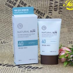 Kem chống nắng Natural Sun Eco No Shine Hydrating Sun Cream SPF40