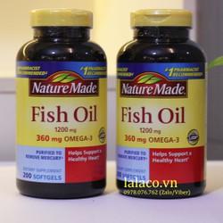 Dầu cá Nature Made Fish oil 1200mg hộp 200 viên